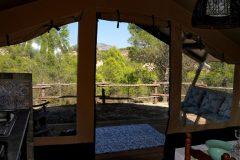 Safari tent uitzicht
